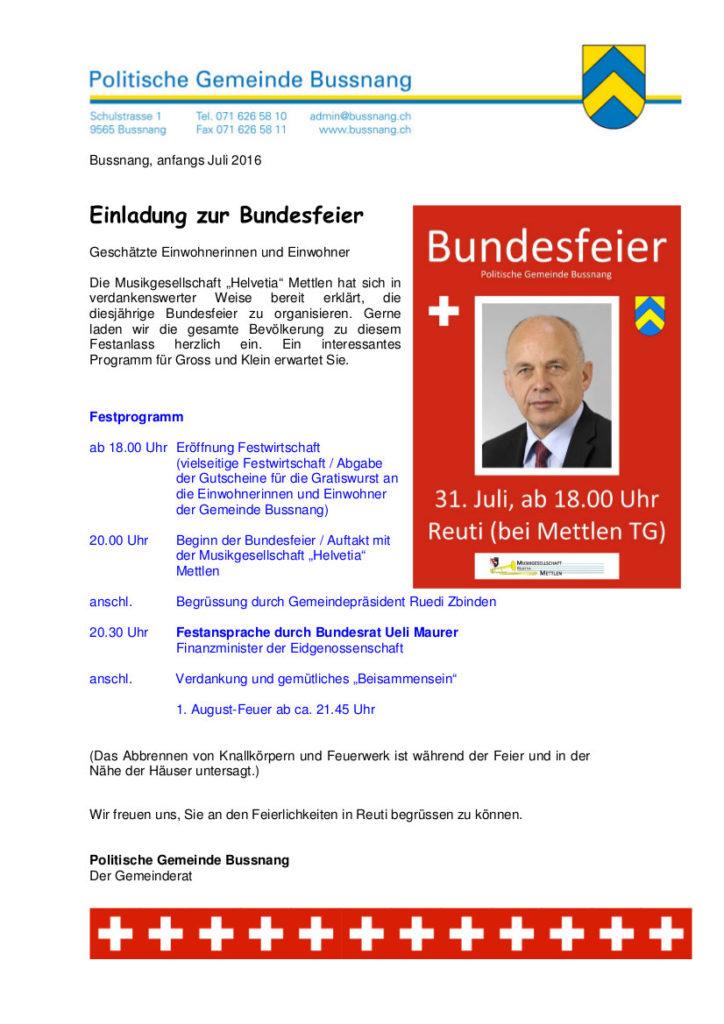 Kanton Thurgau Bussnang